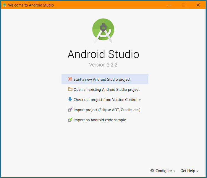 android-studio-start-screen