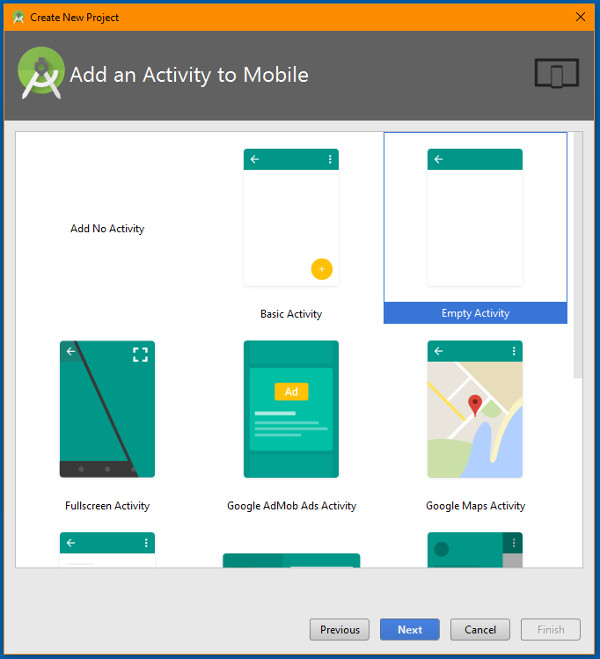 android-studio-2_2_2-add-activity-to-mobile-screen