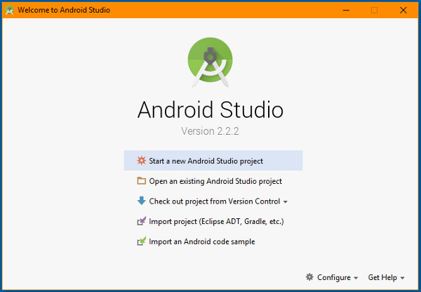 android-studio-2_2_2-start-screen