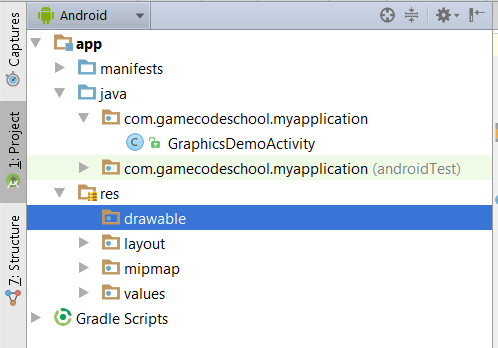 Add the bob graphic into the drawable folder in Android Studio, directly. Don't use your operating system as it would be easy to get it wrong.
