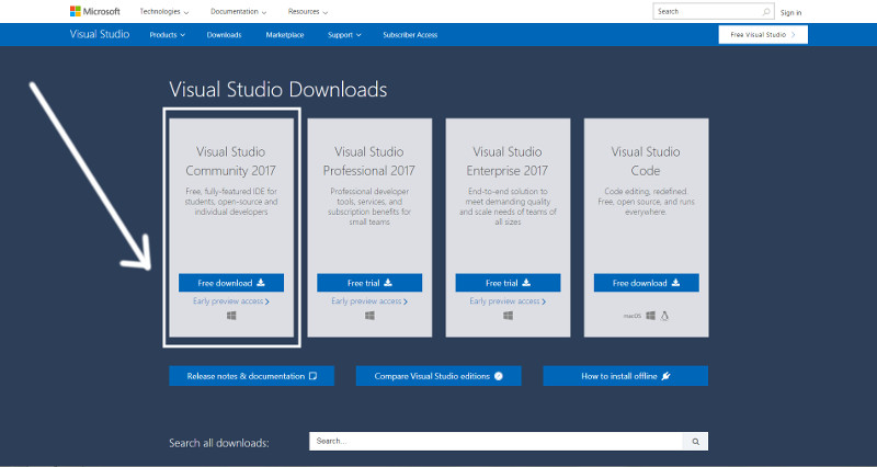 download-visual-studio-2017-community-edition