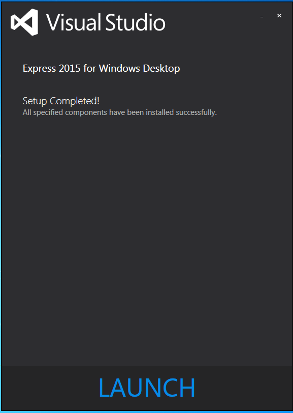 launch_visual_studio_2015