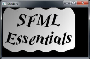 Screen shot from SFML Essentials showing ripple effect using shaders