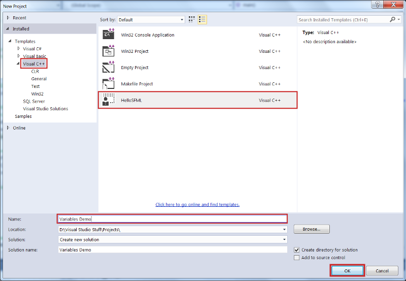 using_visual_studio_template_for _sfml_game_project