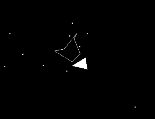 Collision detection: Irregular polygons (Asteroids) using the crossing number algorithm