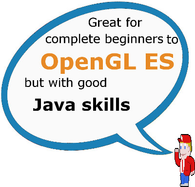 This book is suitable for a complete OpenGL ES beginner but with good Java skills