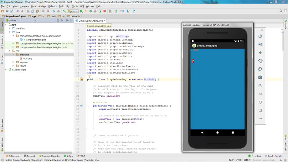 Building a simple Android game engine - Game Code School