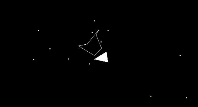 Asteroids irregular polygon collision detection