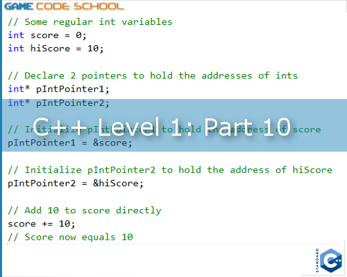 Controlling game memory with C++ pointers - Game Code School